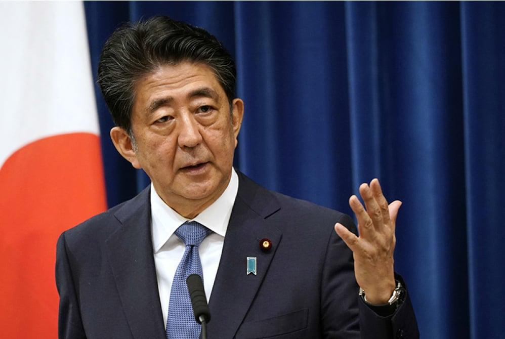 圖為日本首相安倍晉三8月28日以健康原因宣佈辭職。(AFP)