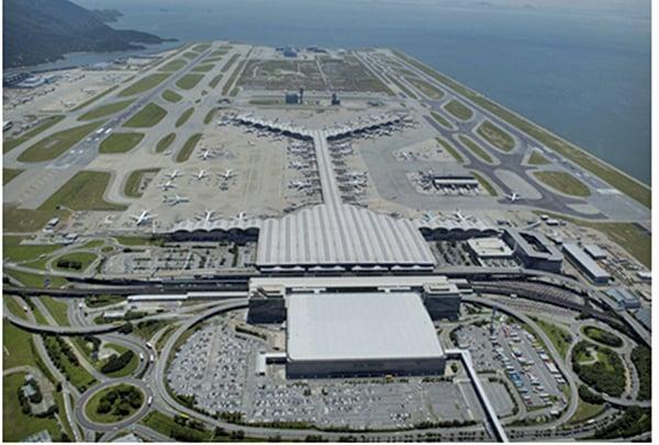 香港機場第三跑道。(香港機場)