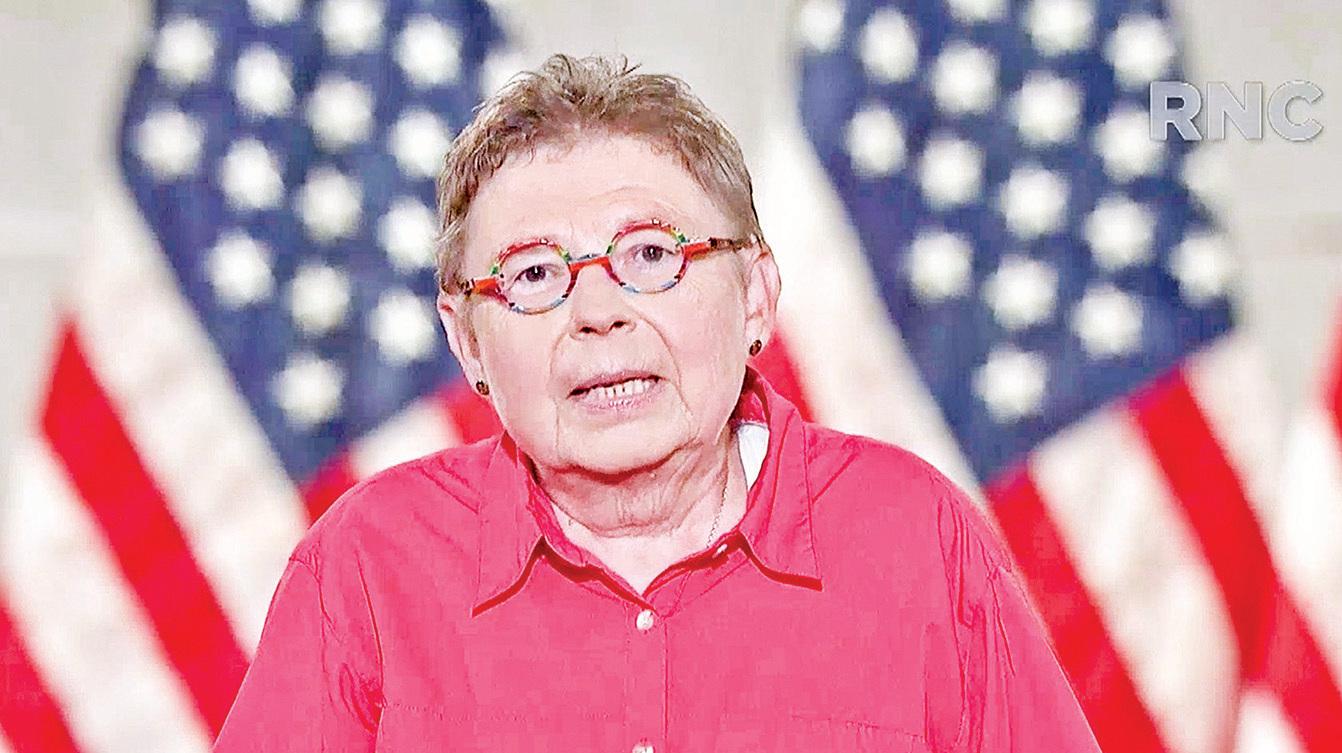 小企業主弗拉德(Debbie Flood)共和黨大會上發言。(Getty Images)
