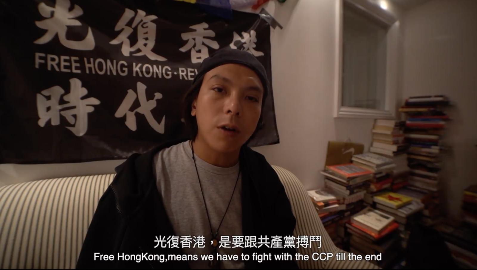 王茂俊8月30日於網絡上澄清,現流亡至英國,他強調自己雖仍健在,但不表示831事件中沒有其他人死亡。(亡人Facebook 影片截圖)