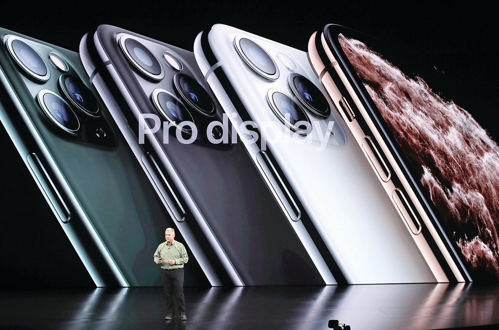 2019年9月10日發表的iPhone 11 Pro。(Getty Images)