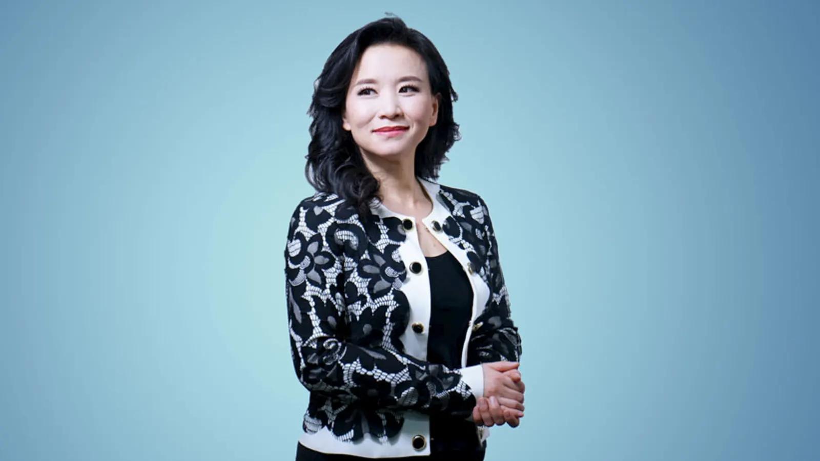 中國央視澳籍女記者成蕾。(圖片來源:作者提供)
