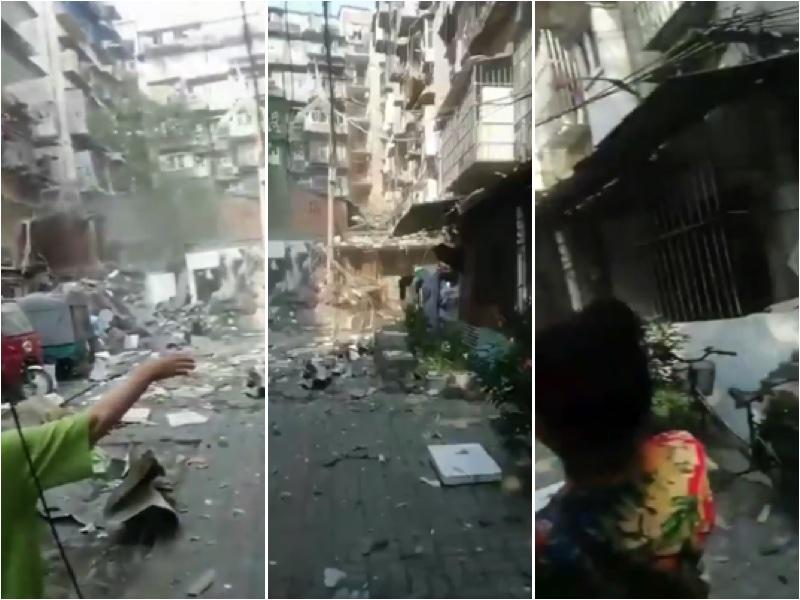 宜昌居民樓天然氣爆炸 樓體剝落 水庫塌陷 山泥傾瀉