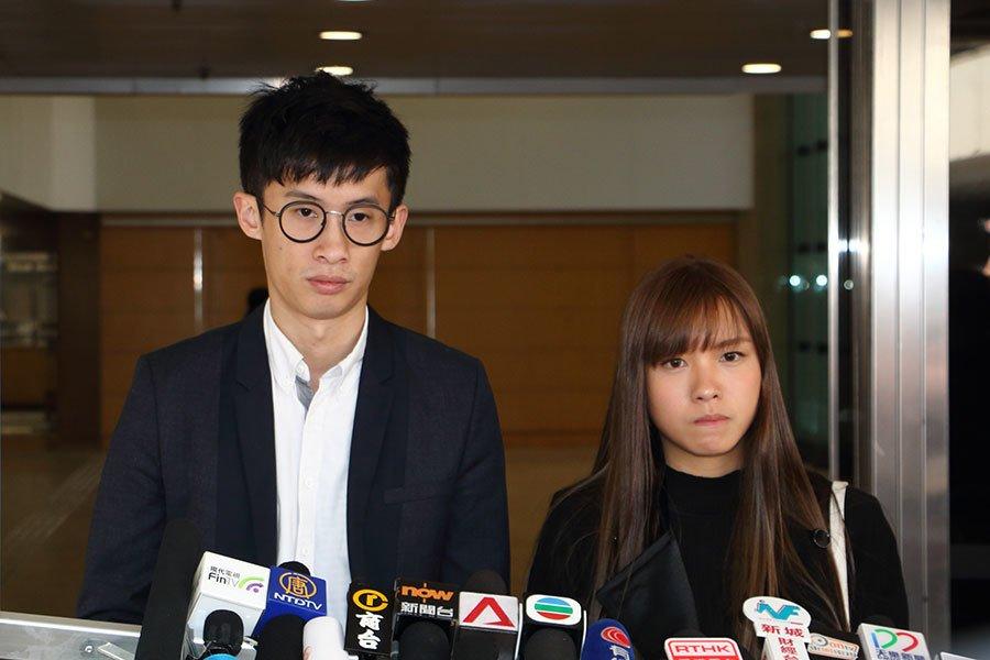 梁頌恒(左)與游蕙禎(右)。(大紀元資料圖片)