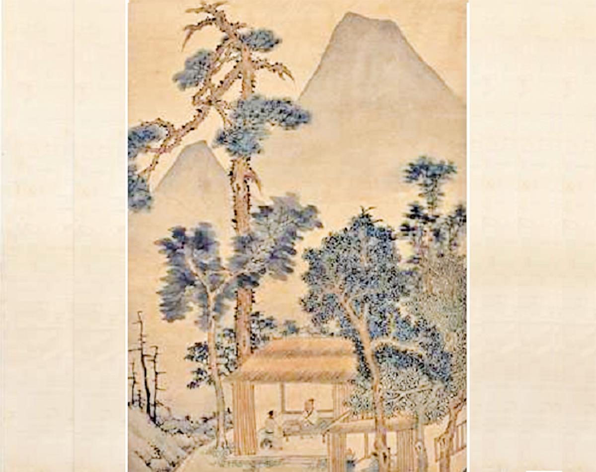 文徵明品茶圖局部(國立故宮博物院提供)