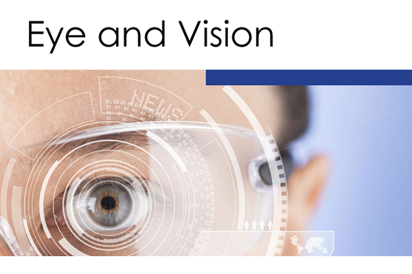 醫學期刊《Eye and Vision》封面截圖。(Public Domain)