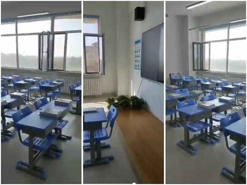 南內蒙古的學校罷課,抗議取消蒙語教學。(影片截圖,大紀元合成)