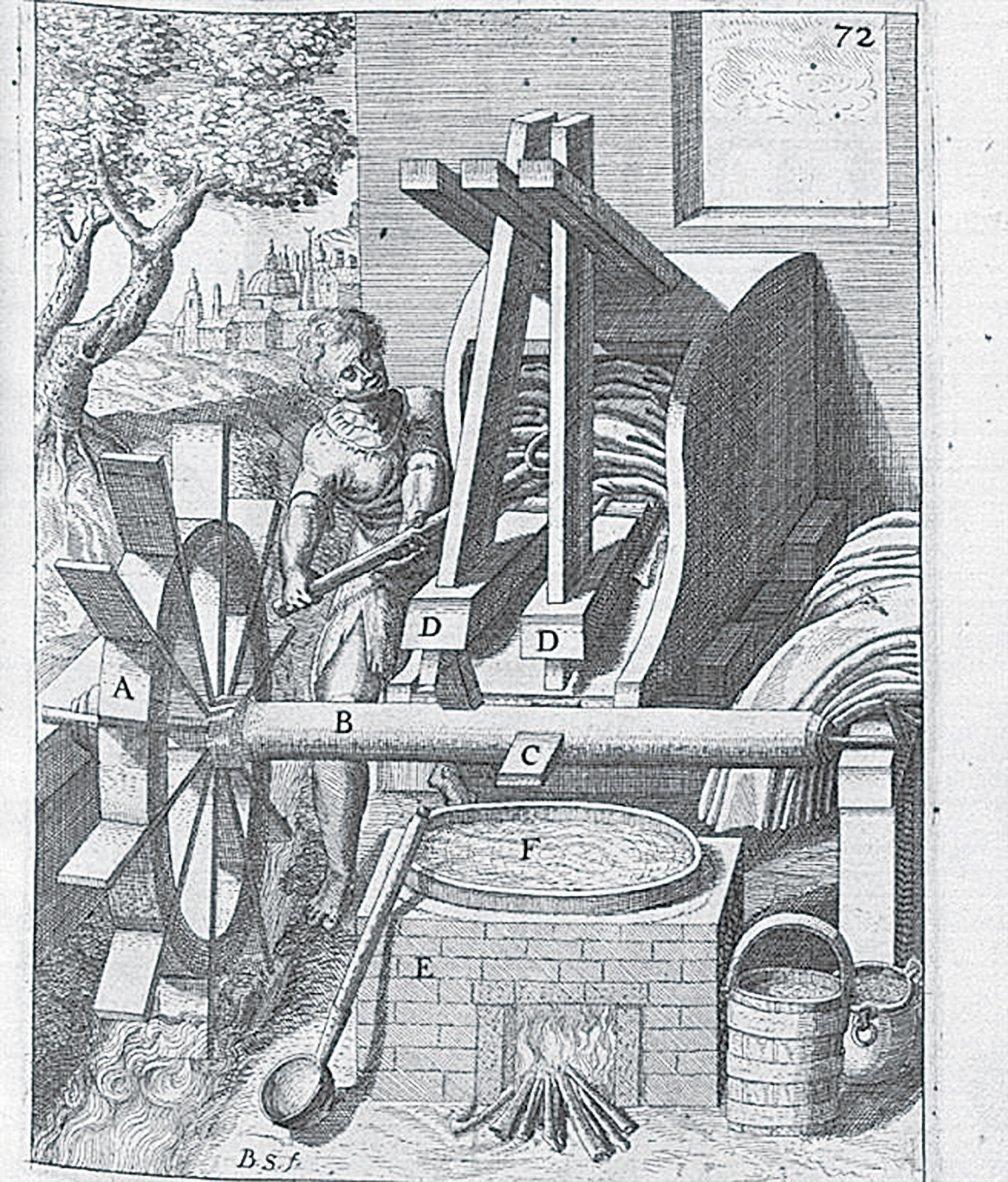 古代安提阿人使用的洗衣機。(維基百科)