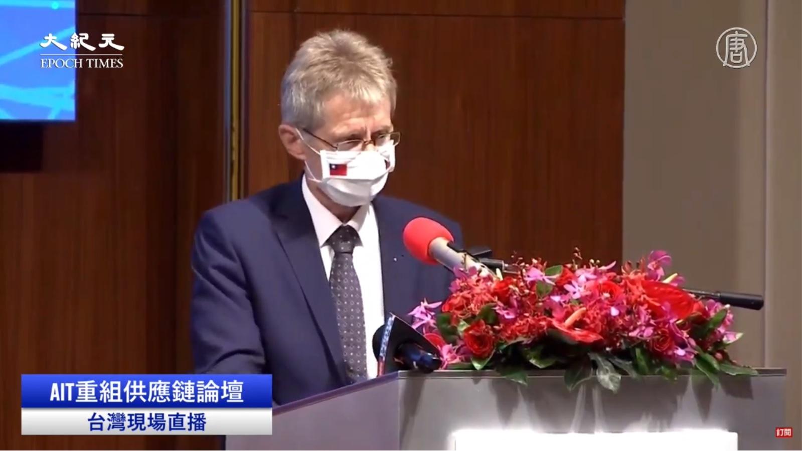 9月4日在台北召開的「重組供應鏈」論壇,世界最主要經濟體的美國、日本、歐盟都派代表參加,捷克議長維斯特奇爾(圖)也出席參與了該議題的討論。(影片擷圖)