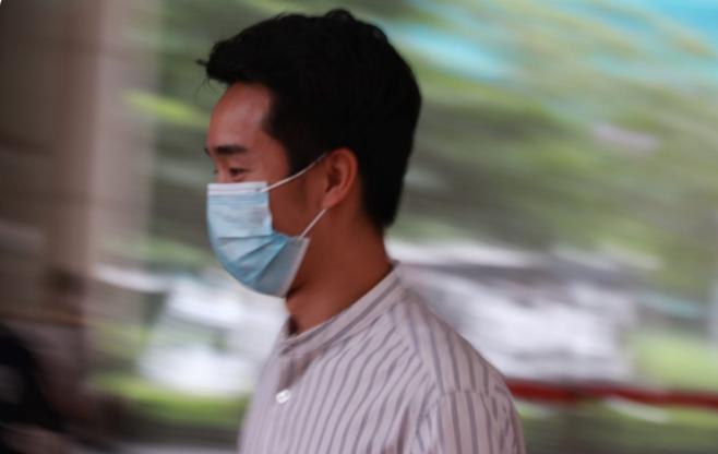 案中第九被告,香港 YouTuber 「Auman」易卓邦。(大紀元)