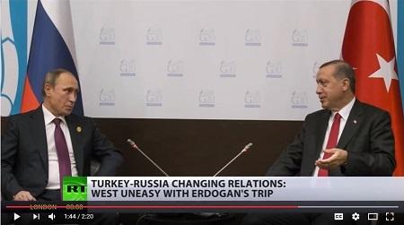 埃爾多安與普京會面,修補兩國關係。(YouTube視像擷圖)