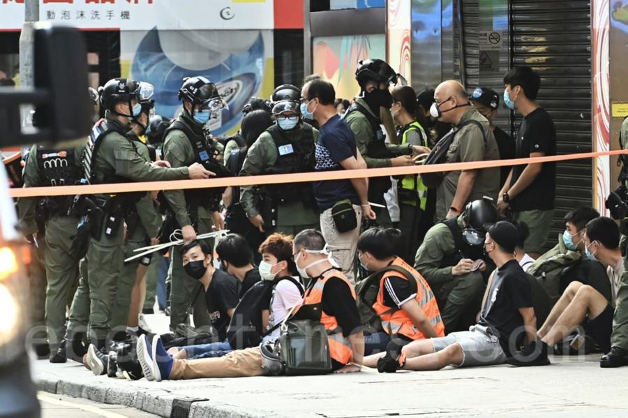 【組圖 2】9.6九龍區大遊行 警拘至少90人