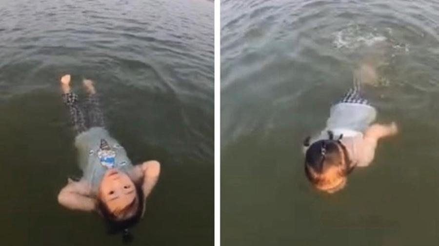 美人魚轉生?湖南2歲女童10分鐘游200米(影片)