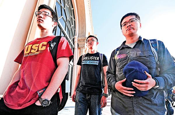 大部份中國留學生並未受中美交惡的直接衝擊。(AFP)