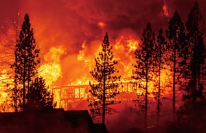 高溫及大風  加州野火釀空前災難