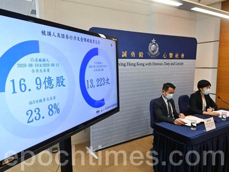 【直播】涉操縱壹傳媒股價獲利逾三千八百萬 十五人被捕