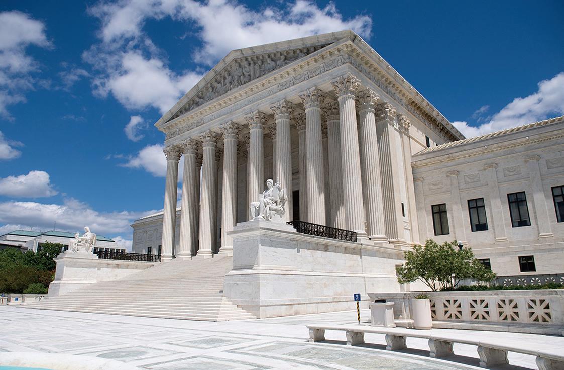 圖為美國最高法院外觀,攝於2020年5月12日。(AFP)