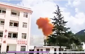 中共火箭推進器疑墜學校附近 橘色毒煙直冒