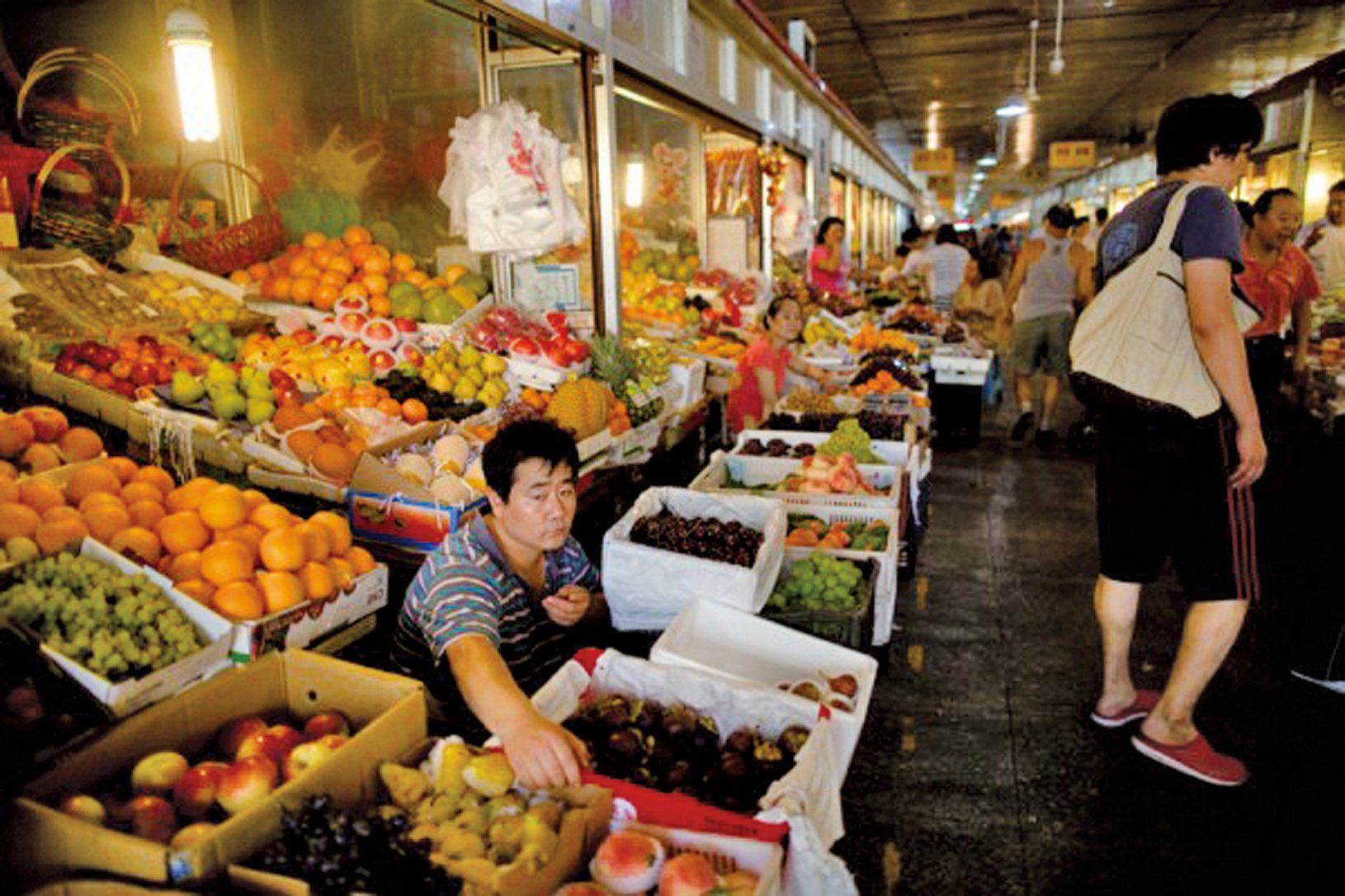 中國國家統計局8月10日發佈數據顯示中國經濟下半年開始低迷。7月份全國消費者物價指數(CPI)漲幅僅為1.8%。 (Ed Jones/AFP)