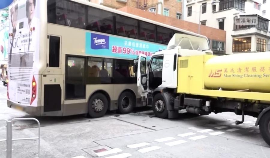 深水埗重大交通意外24人受傷 相關路段已全線封閉