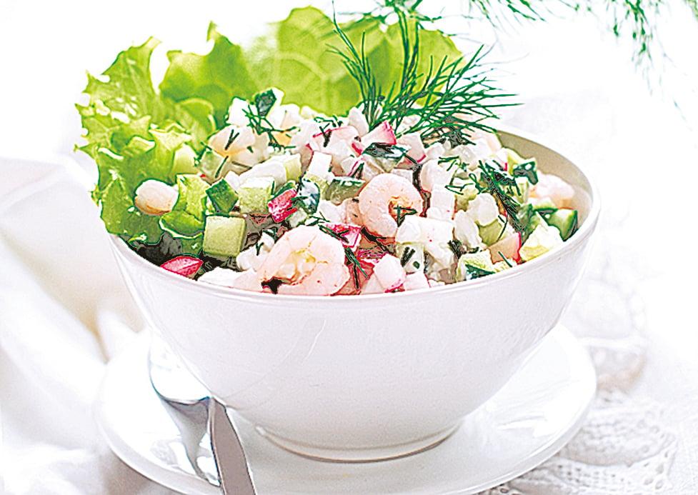 蝦子的蛋白質含量高,可搭配青瓜做成各類減肥料理。