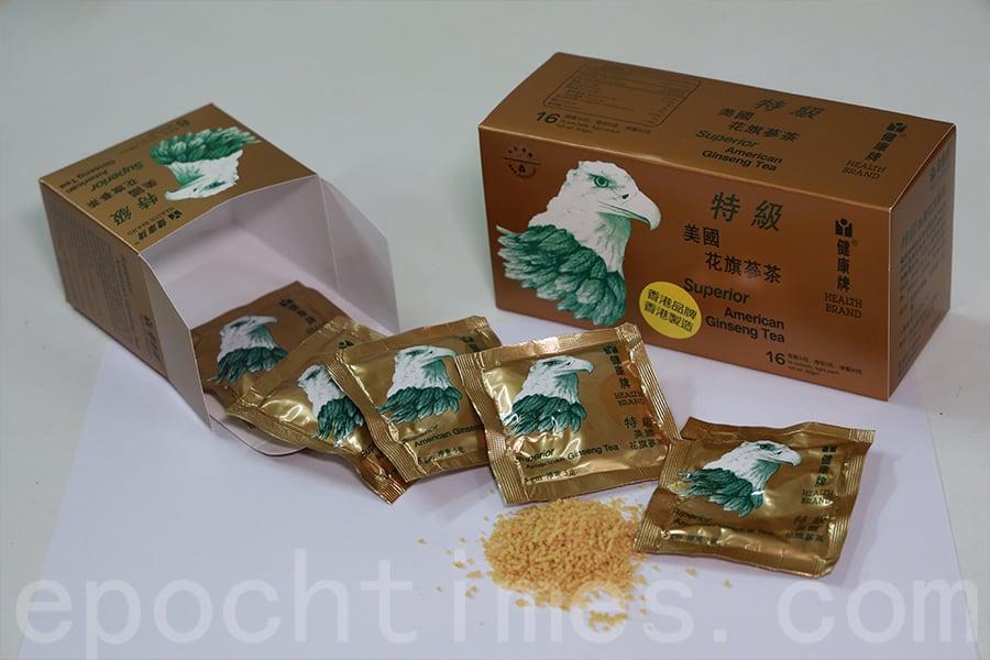 健康牌花旗蔘茶。(陳仲明/大紀元)