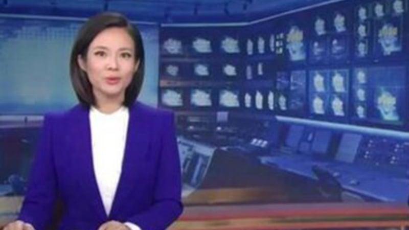 中共央視「新聞聯播」換了一位蒙古族女主播寶曉峰,引起輿論關注。(影片截圖)