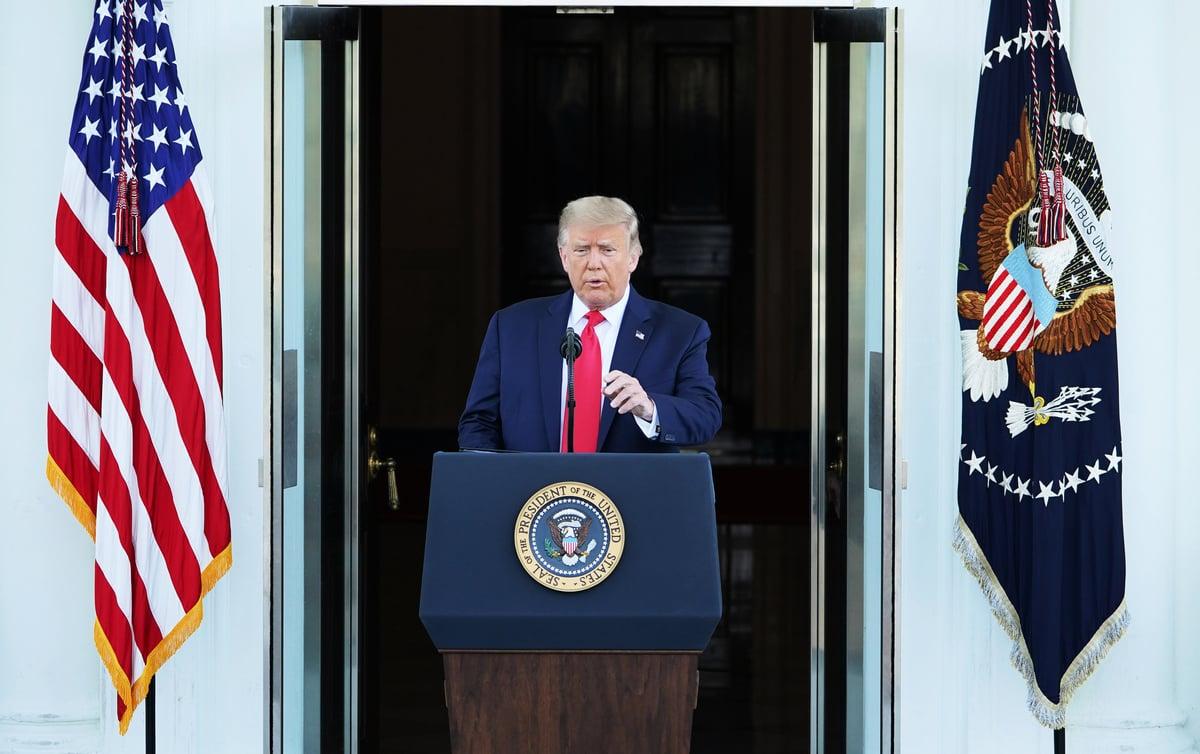 美國總統特朗普資料圖。(MANDEL NGAN/AFP)