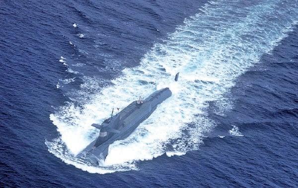 圖為解放軍北海艦隊核潛艇。(AFP/AFP via Getty Images)