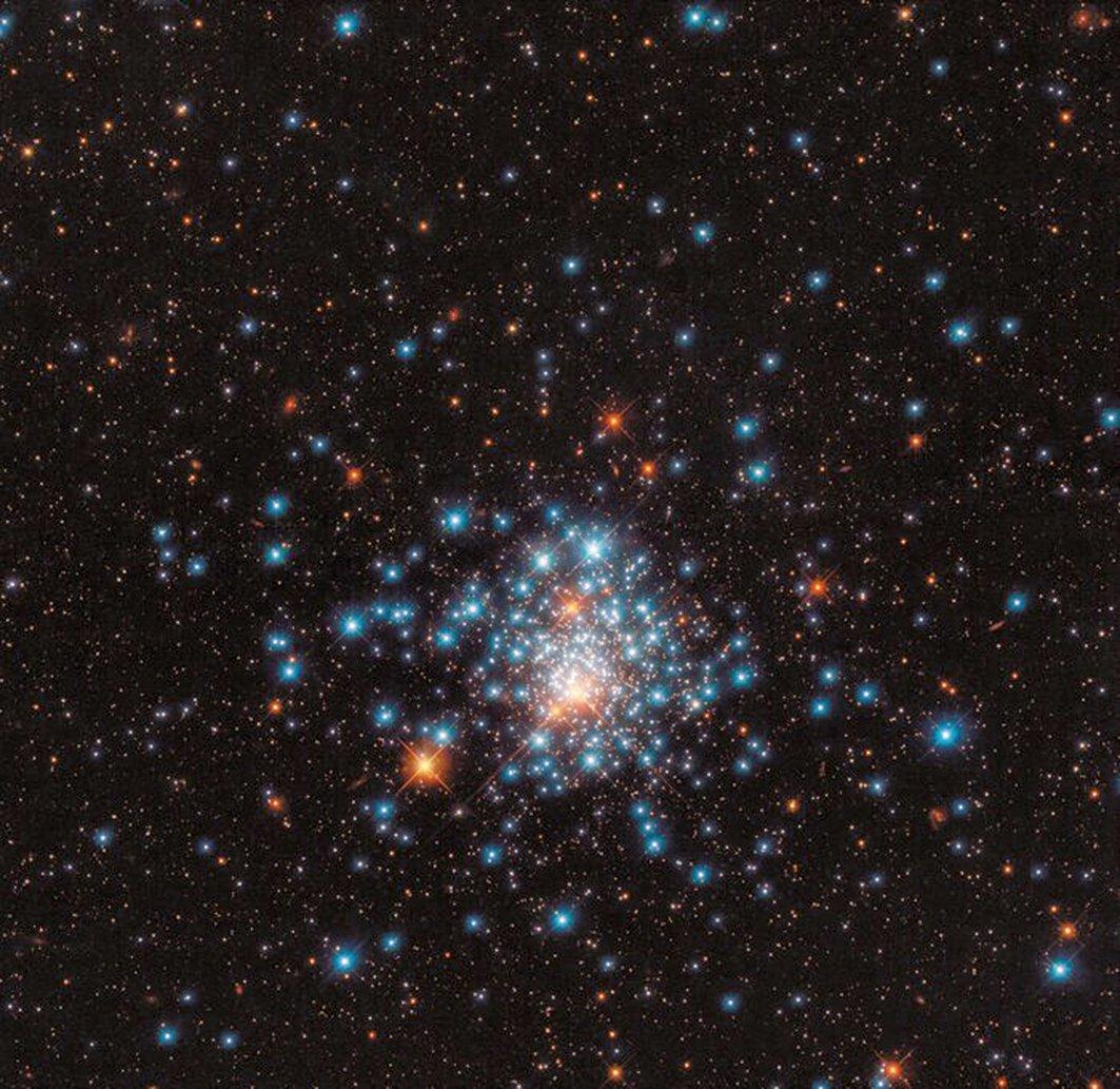 9月7日發佈的星團NGC 1805,由美國太空總署/歐空局哈勃太空望遠鏡拍攝。(ESA/Hubble & NASA, J. Kalirai)