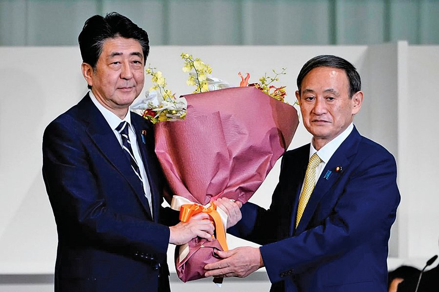 菅義偉當選日本自民黨總裁