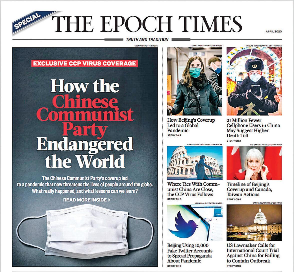 4月份的英文《大紀元時報》特刊封面。(大紀元)