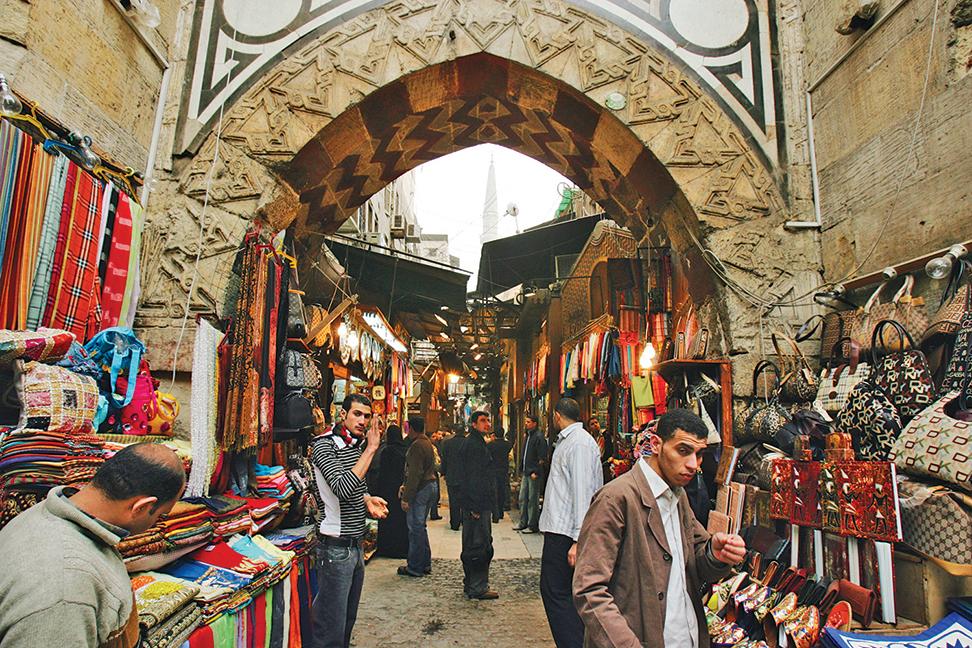 猶如迷宮的哈哈利市場。