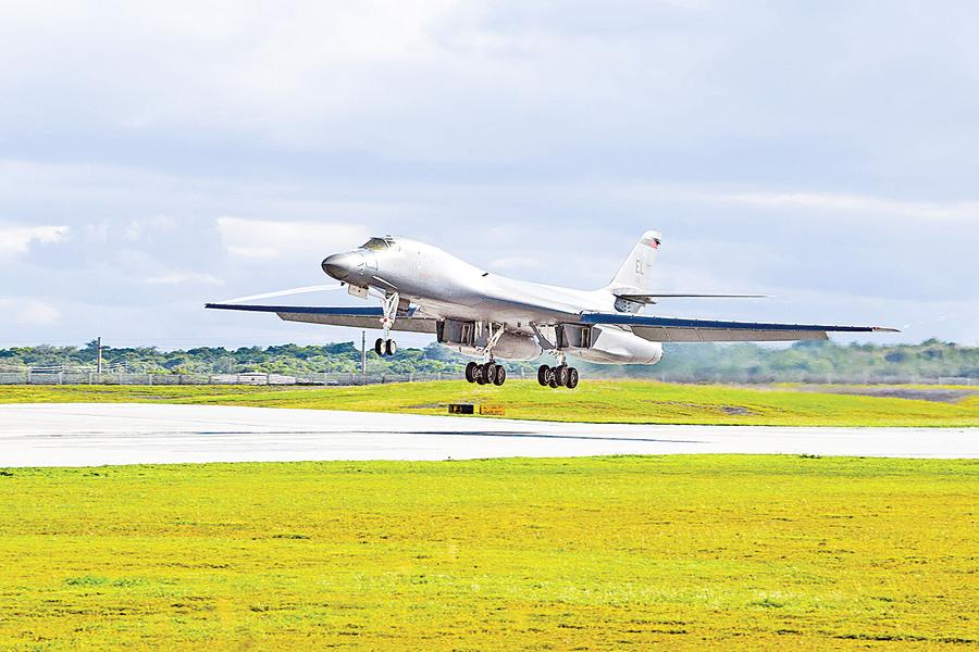 美軍B-1B 快速回應中共台海挑釁