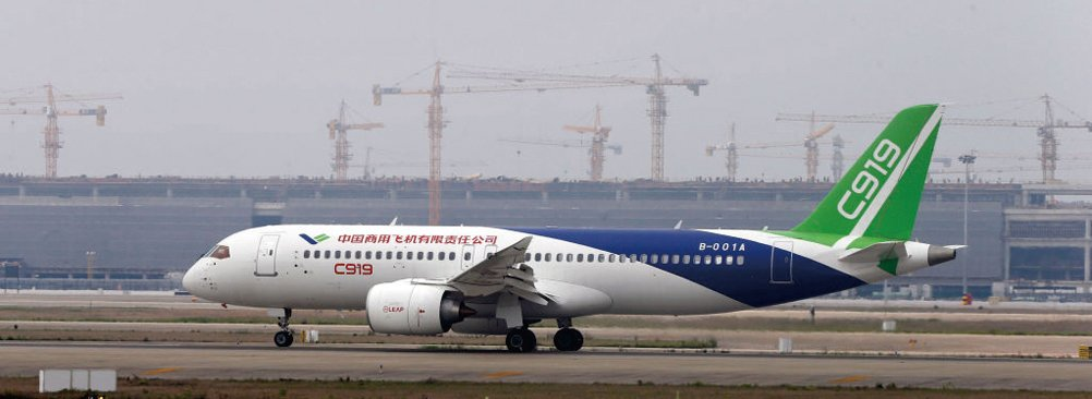 中共C919客機交付困難 主要供應鏈來自美國
