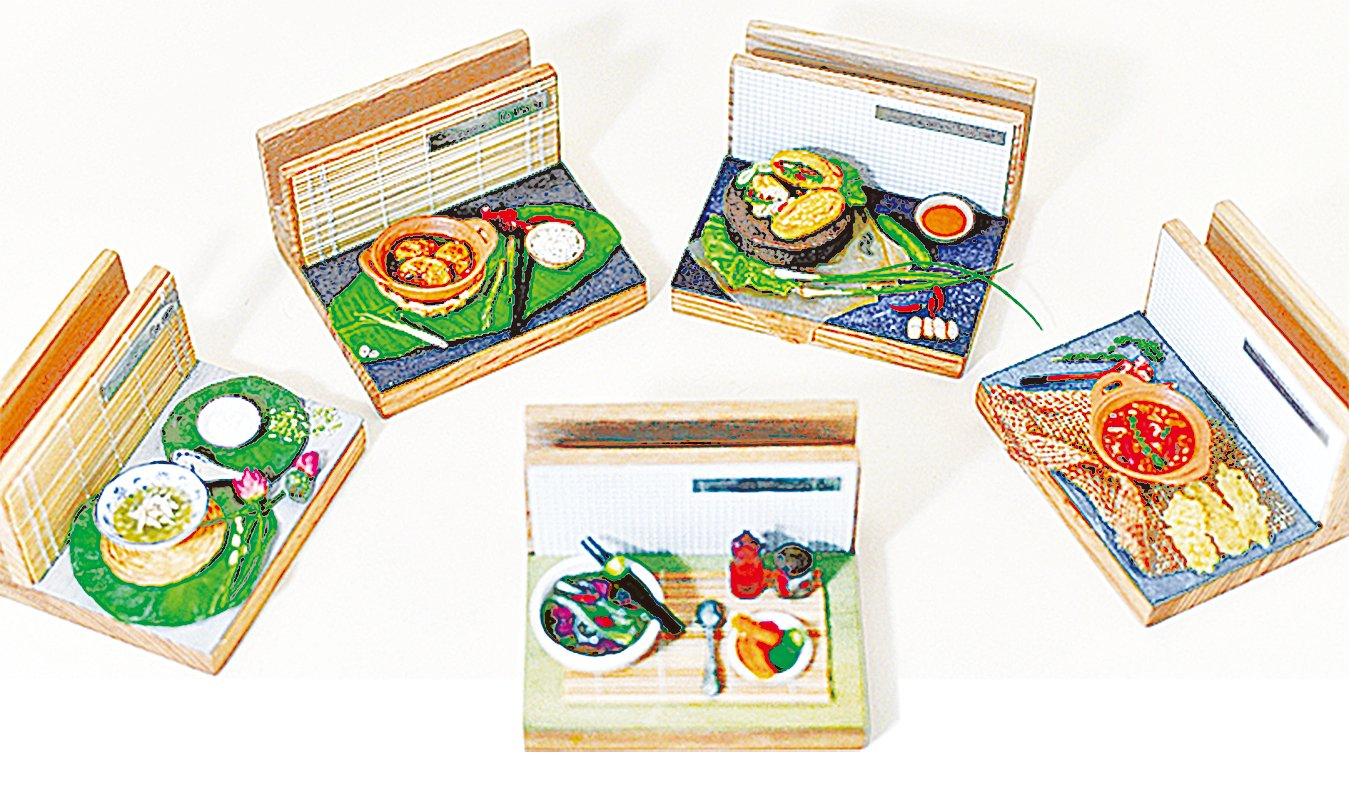 栩栩如生越南食物模型。