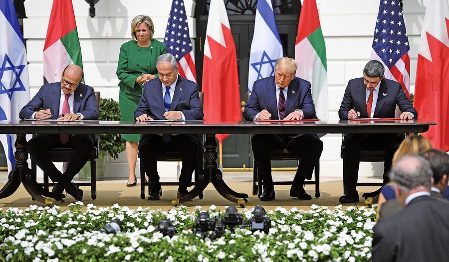 特朗普見證歷史時刻 以、阿、巴林簽和平協議