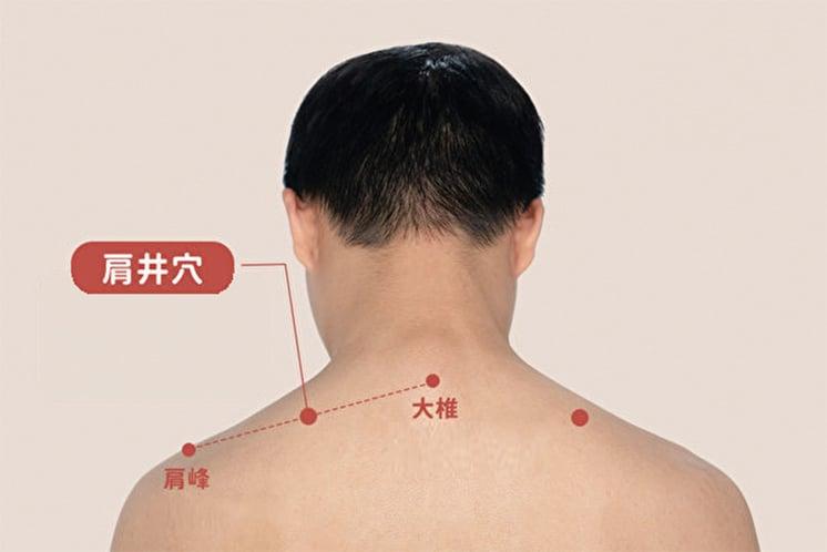 肩井穴。(健康1+1/大紀元)