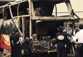 台火燒車案 司機因妻將攜兒女返大陸而自焚