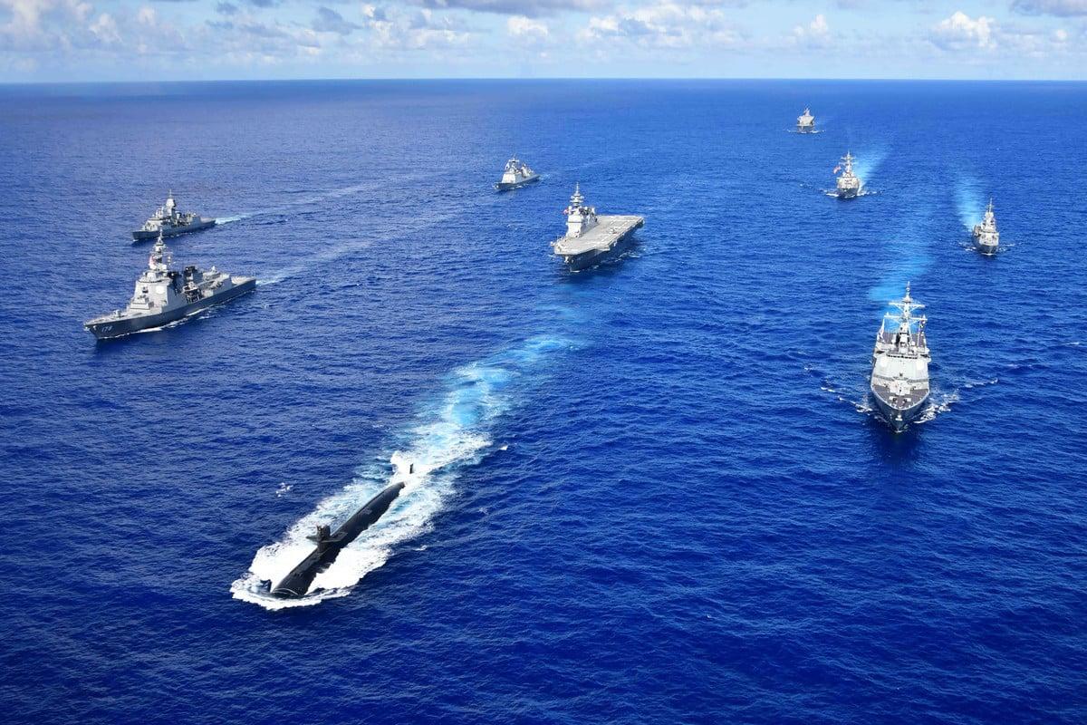 9月16日,美國國防部部長埃斯珀宣佈一項名為「前進未來」的發展計劃,使美軍得以憑實力碾壓中共。(US Navy)