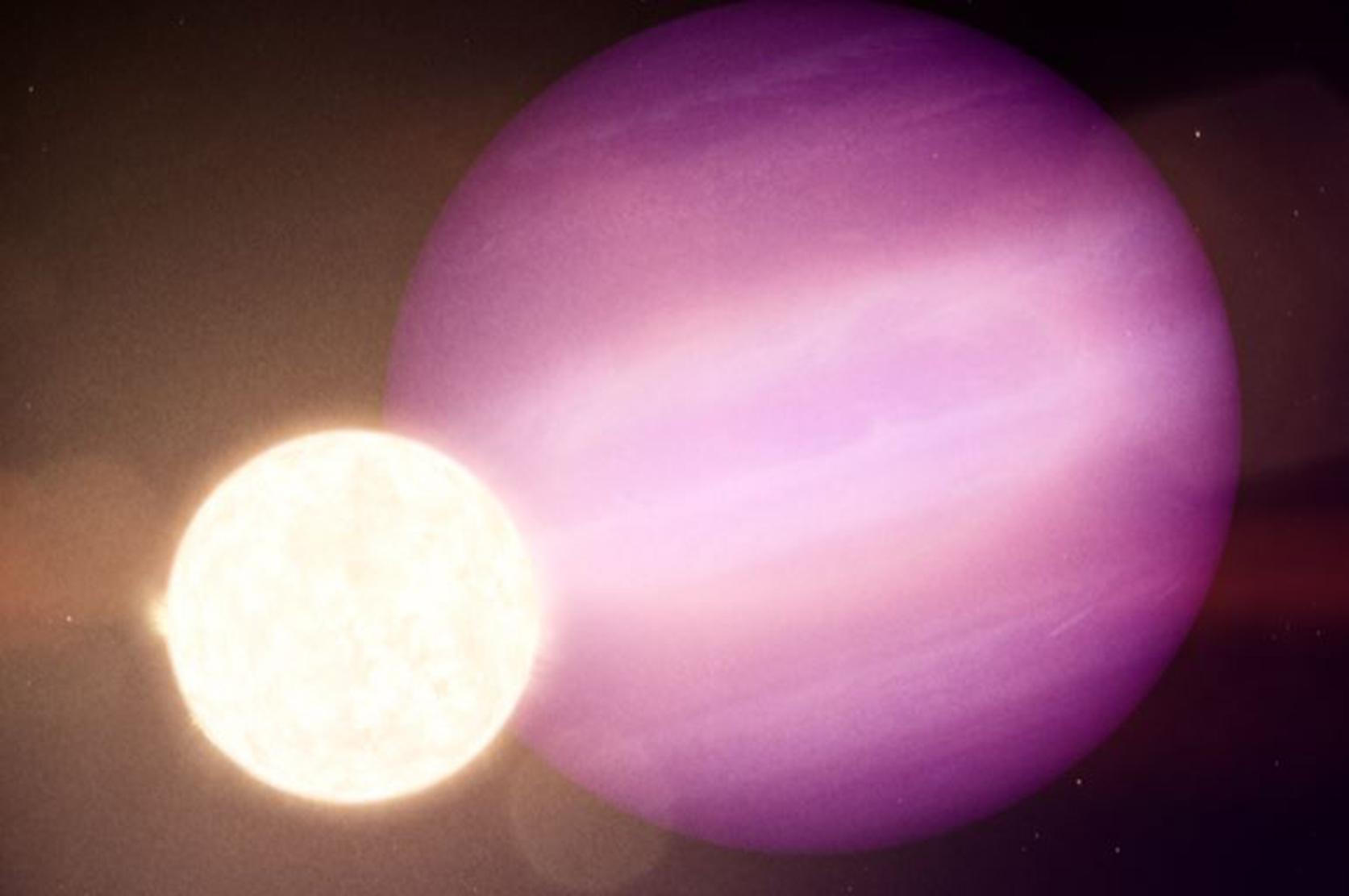 繞行白矮星的行星概念圖。(NASA)