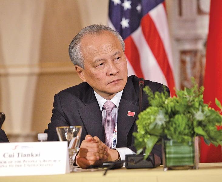 美駐華大使提前離任  崔天凱每晚失眠