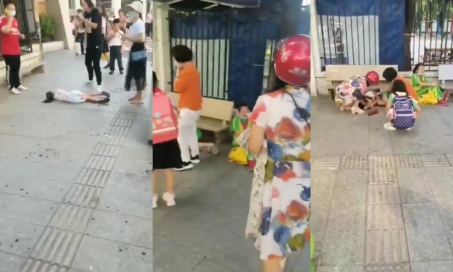 廣州幼兒園附近發生砍人血案 五學生被砍兩人重傷
