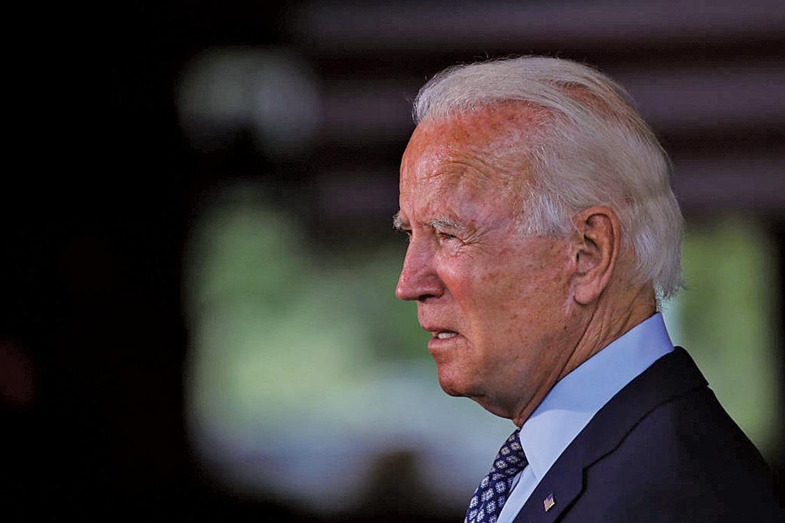 圖為拜登6月初在賓夕凡尼亞州的一次活動中。(Getty Images)