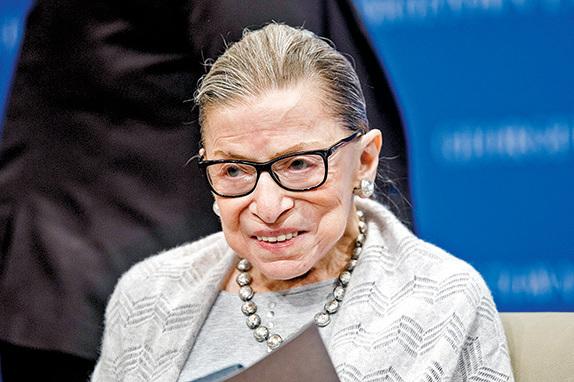 最高法院大法官金斯伯格生前照片。(Getty Images)