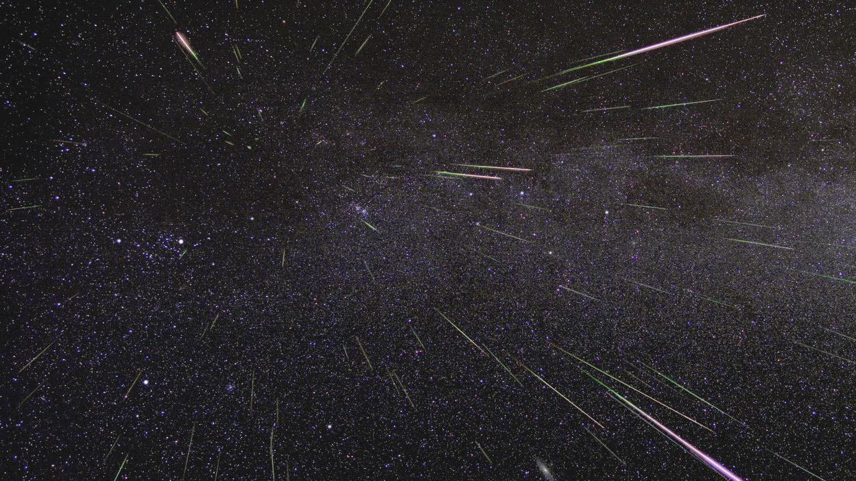美國太空總署(NASA)表示,2016年的英仙座流星雨最高峰期,將出現在美加時間8月11日晚間至12日清晨前。(NASA/JPL)