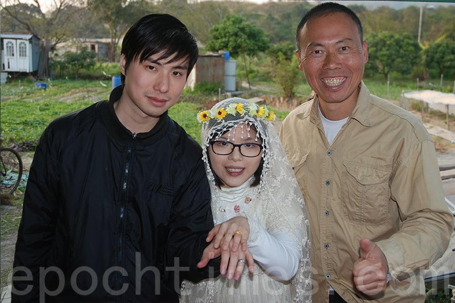Kim曾在歐羅有機農場舉辦訂婚派對,見證幸福一刻。(受訪者提供)
