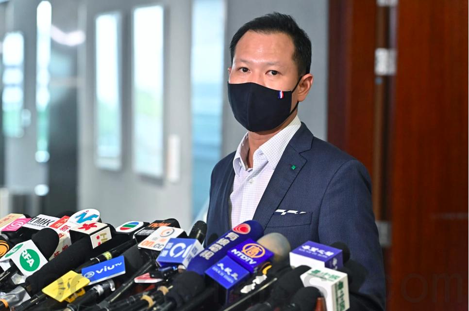 9月23日,法律界立法會議員郭榮鏗回應終審法院首席法官馬道立發表聲明。(宋碧龍/大紀元)