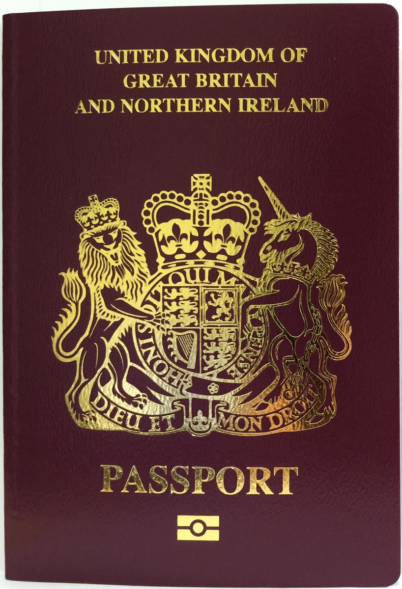 BNO護照封面。(Matthew1991314,Wikimedia Commons)