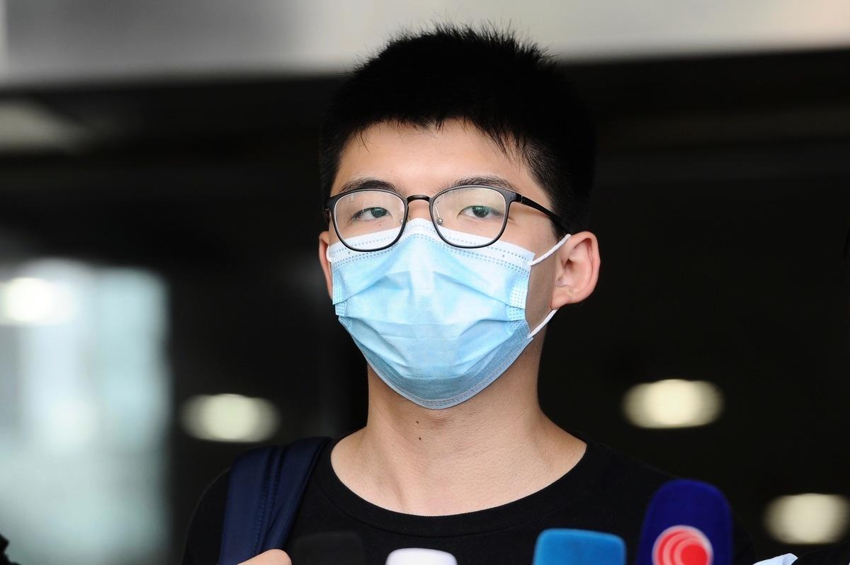 前香港眾志秘書長黃之鋒,9月24日到中區警署報到時再被拘捕。(大紀元資料圖片)